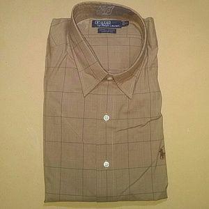 Polo by Ralph Lauren Windowpane Button Shirt, XL